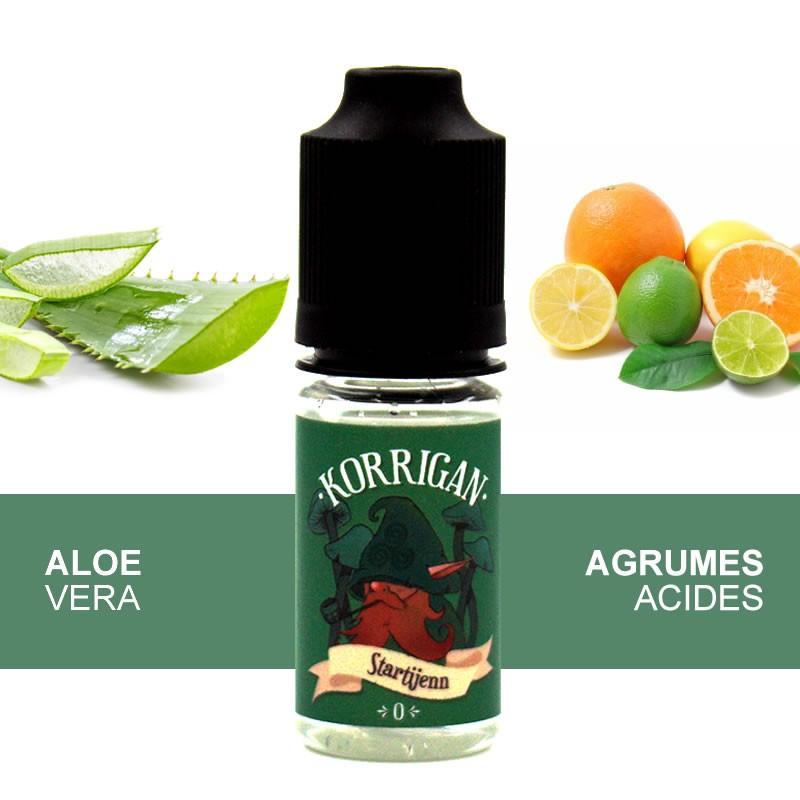 Eliquide Startijenn Aloé vera agrumes par Alteracig - 10ml - gamme Korrigan