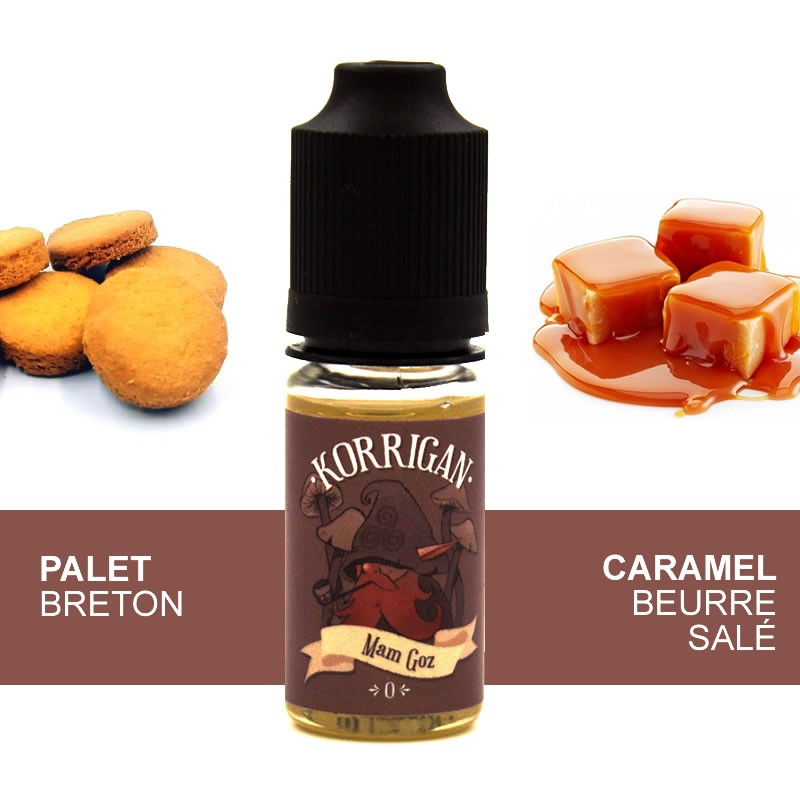 Eliquide Mam Goz par Alteracig - palet breton caramel beurre salé 10ml